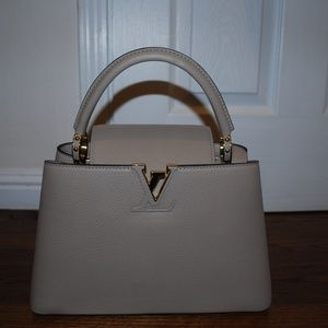 Authentic Louise Vuitton Capucines Galet pm